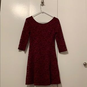 Lace cocktail dress by Lush. Worn once. Like new.